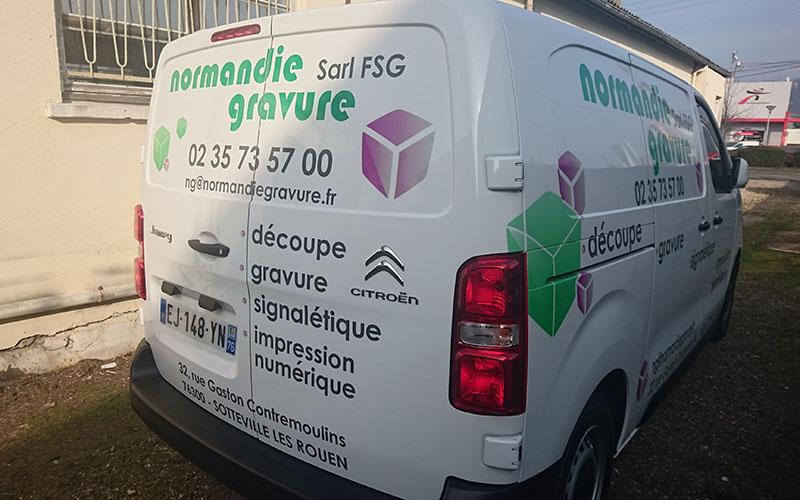 covering de vehicule par normandie gravure
